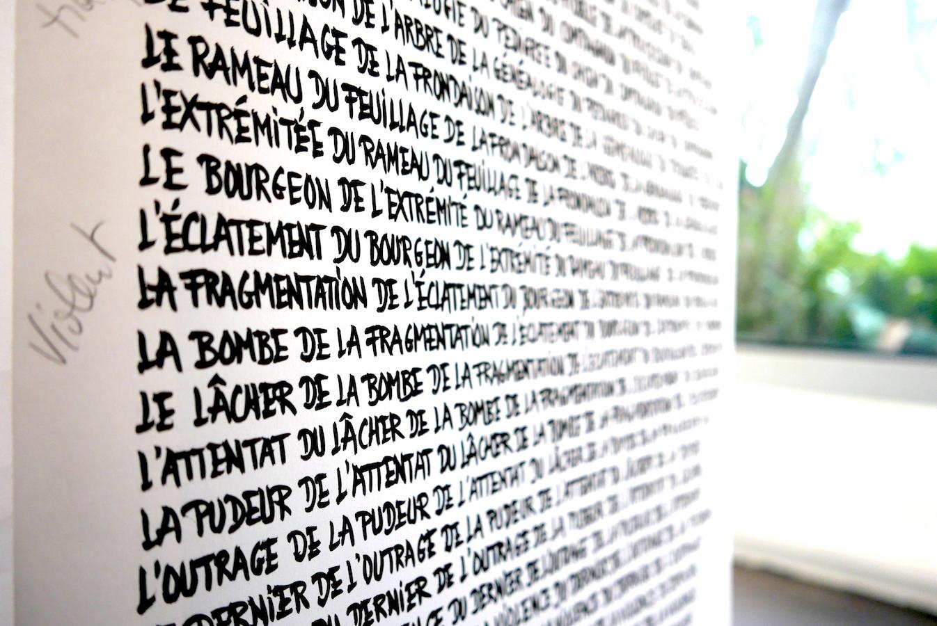 Compléments de noms - Le langage - 2010 Support de lecture, rouleau manuscrit | art-cade*