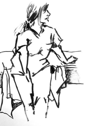 Diane Guyot de Saint Michel, feutre sur papier A4, 2019 | art-cade*