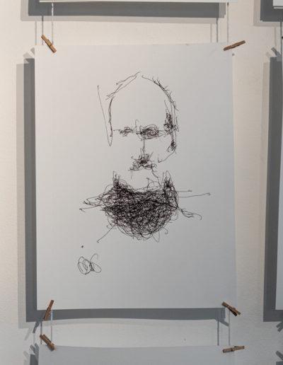 Exposition Patrick Tresset - Photo : Vincent Royer | art-cade*