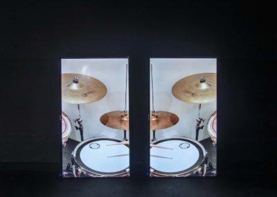 Tzu-Chun Ku, Beat and Rate, 2020, vidéos en boucle, écrans. © Photo Aurélien Meimaris | art-cade*
